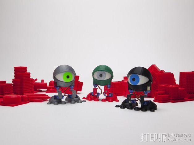 个性机器人 3D模型  图1