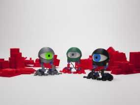 个性机器人 3D模型