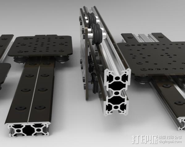 开源直线轴承系统 3D模型  图2