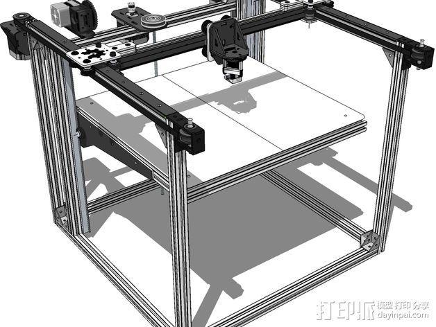 开源直线轴承系统 3D模型  图6