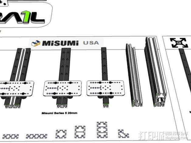 开源直线轴承系统 3D模型  图12