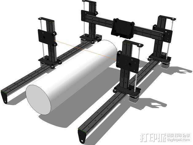 开源直线轴承系统 3D模型  图10