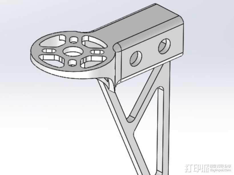 多轴飞行器发动机支架 3D模型  图1
