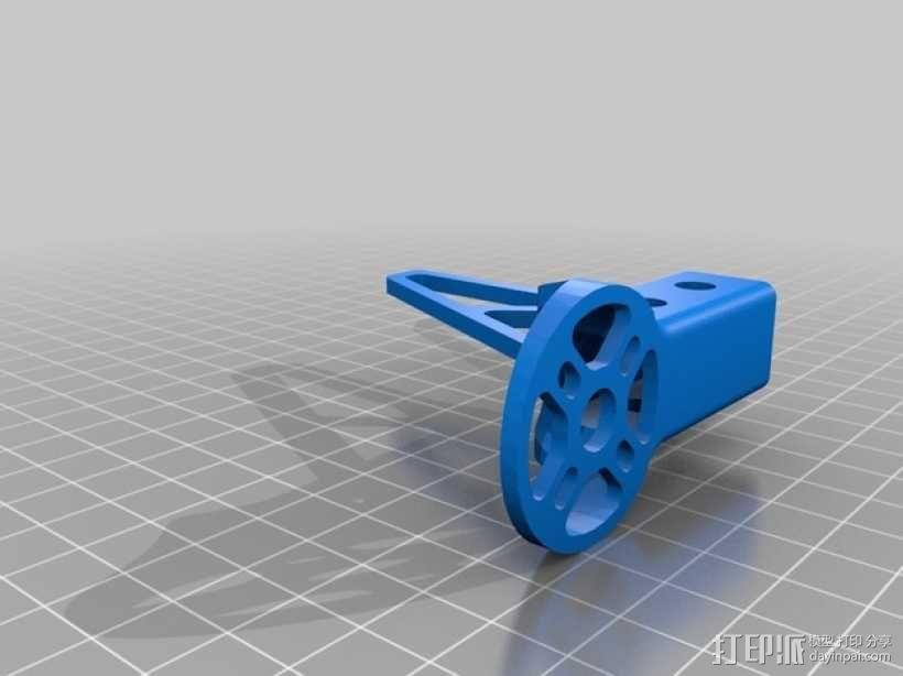 多轴飞行器发动机支架 3D模型  图2
