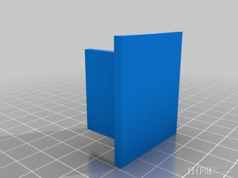 蝙蝠遥控飞机发动机支架 3D模型  图2