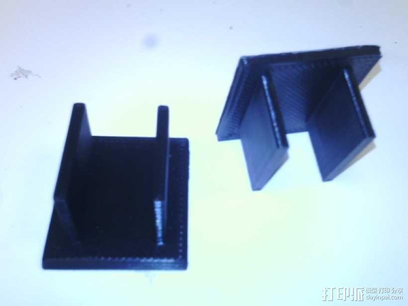 蝙蝠遥控飞机发动机支架 3D模型  图3