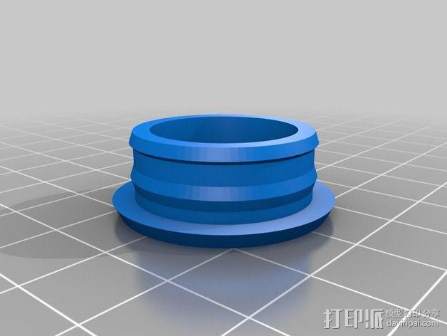 小轮摩托车 防水螺帽 3D模型  图2