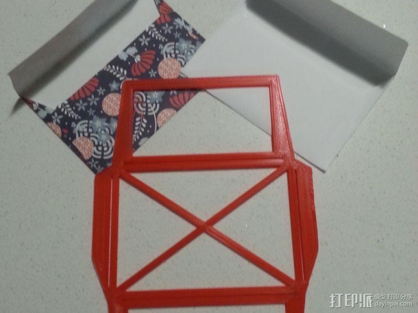 信封模板 3D模型  图1