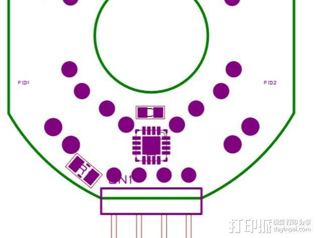 Bright Pi - 树莓派电路板零部件 3D模型  图5