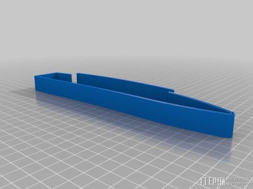 桨叉架船 3D模型  图3