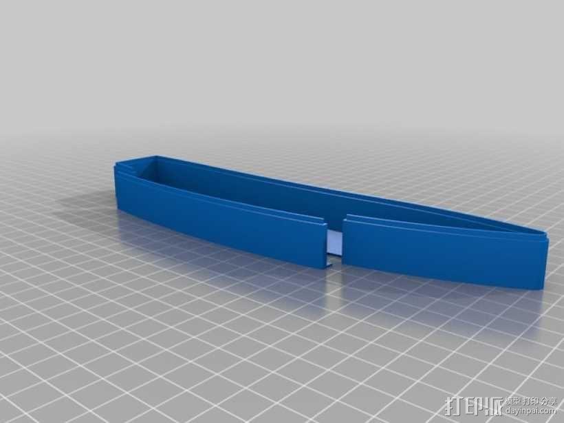 桨叉架船 3D模型  图2