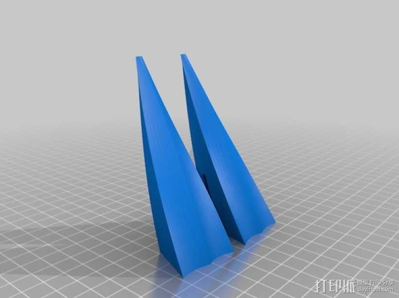 桨叉架船 3D模型  图5