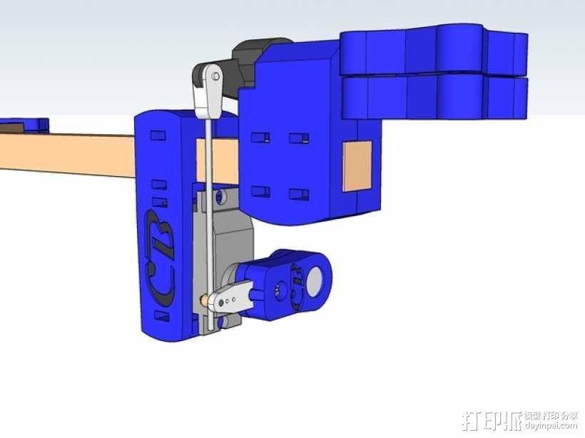 三轴飞行器 通用钩尾 3D模型  图1