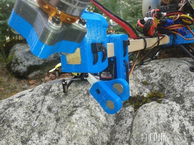 三轴飞行器 通用钩尾 3D模型  图4