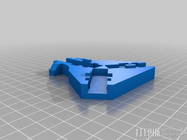 三轴飞行器 通用钩尾 3D模型  图6