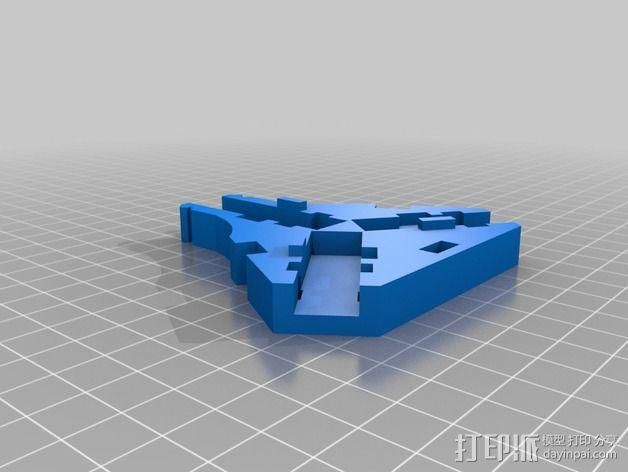 三轴飞行器 通用钩尾 3D模型  图7
