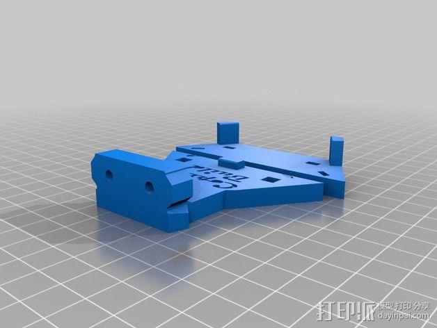 三轴飞行器 通用钩尾 3D模型  图8