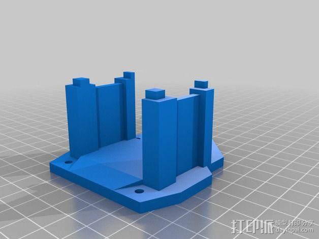 三轴飞行器 通用钩尾 3D模型  图9