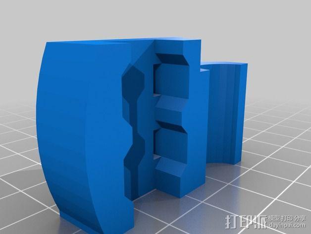 三轴飞行器 通用钩尾 3D模型  图11