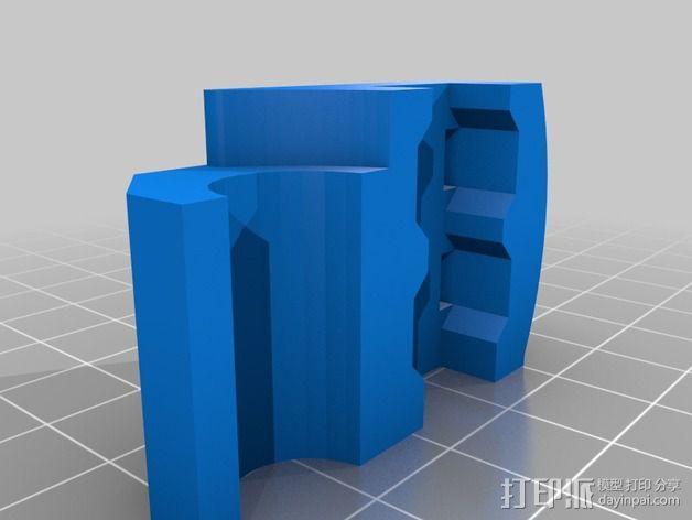 三轴飞行器 通用钩尾 3D模型  图10