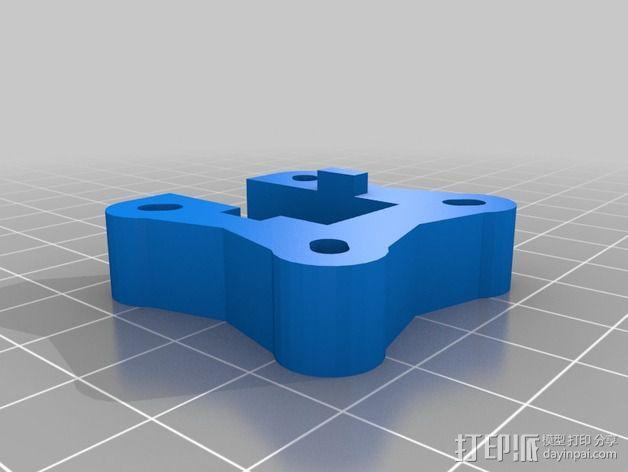 三轴飞行器 通用钩尾 3D模型  图13