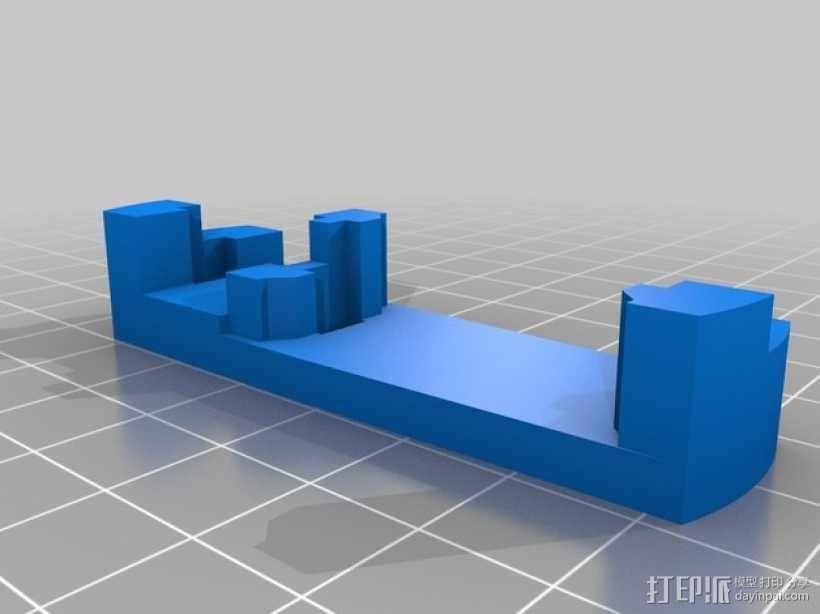 三轴飞行器 通用钩尾 3D模型  图12