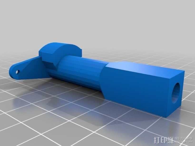 三轴飞行器 通用钩尾 3D模型  图14