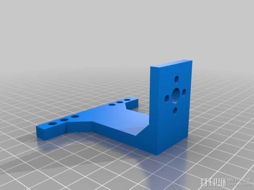 NXT Tetrix固定槽支架 3D模型  图2