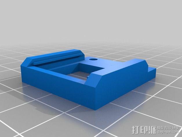 Arduino DeadOn RTC - DS3234固定夹 3D模型  图3
