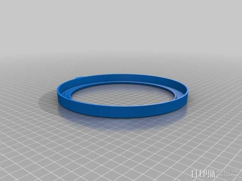 捷宝平底锅磁通环保护环 3D模型  图2