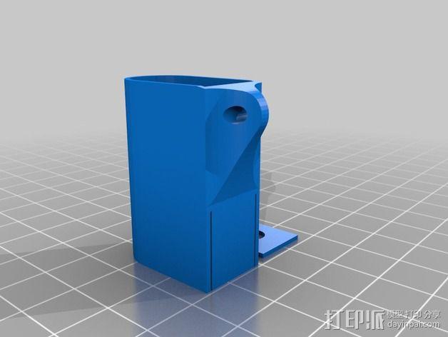佳能DSLR IR远程钥匙链 3D模型  图2