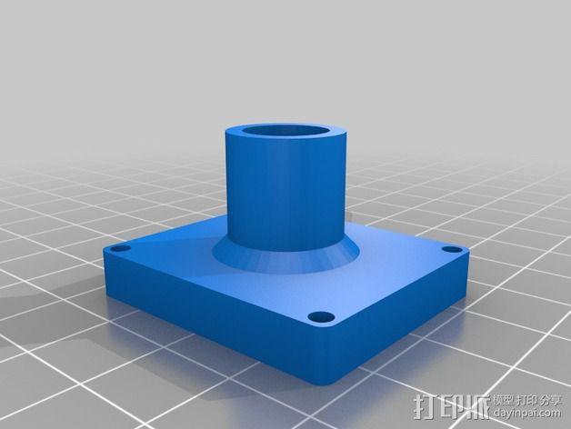 GPS固定槽 3D模型  图3