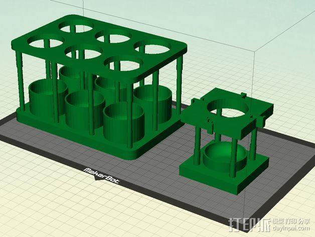 酵母瓶 支架 3D模型  图1