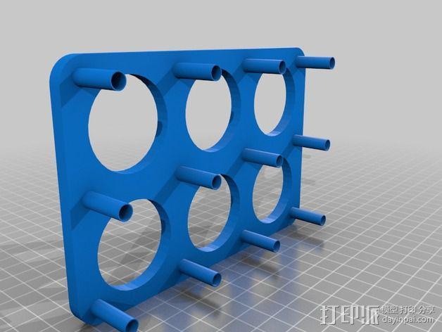 酵母瓶 支架 3D模型  图4