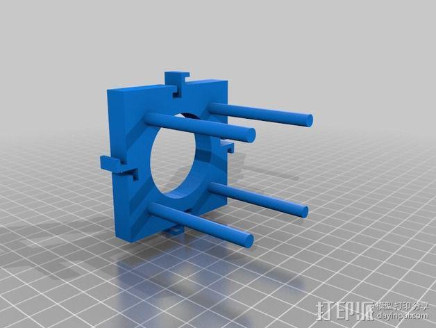 酵母瓶 支架 3D模型  图3