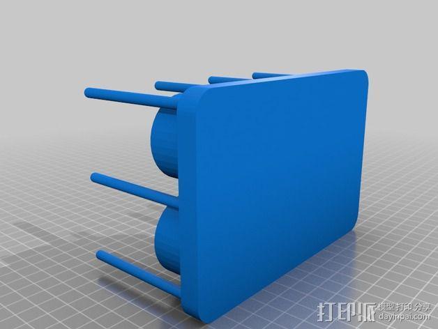 酵母瓶 支架 3D模型  图5