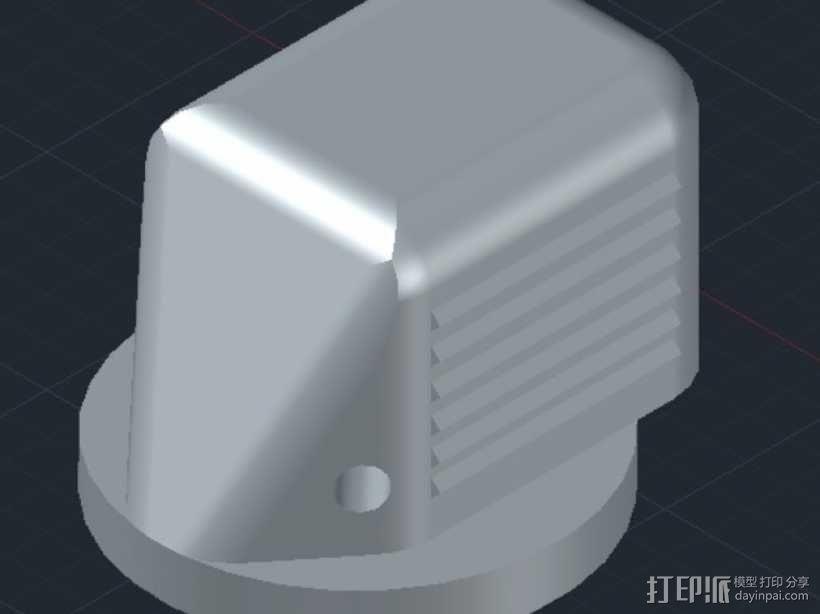 波音737飞机驾驶舱旋钮 3D模型  图1