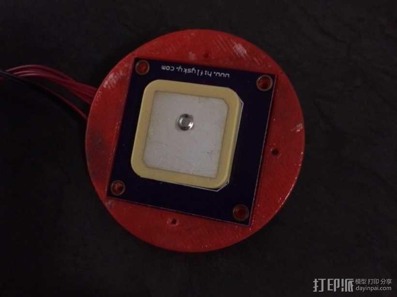 四轴飞行器 GPS导航外壳 3D模型  图6