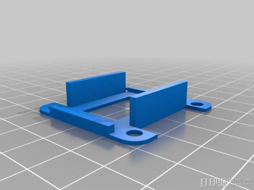 FrSky D4R-II接收器 支架 3D模型  图1