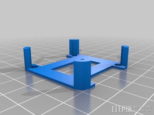 FrSky D4R-II接收器 支架 3D模型  图2