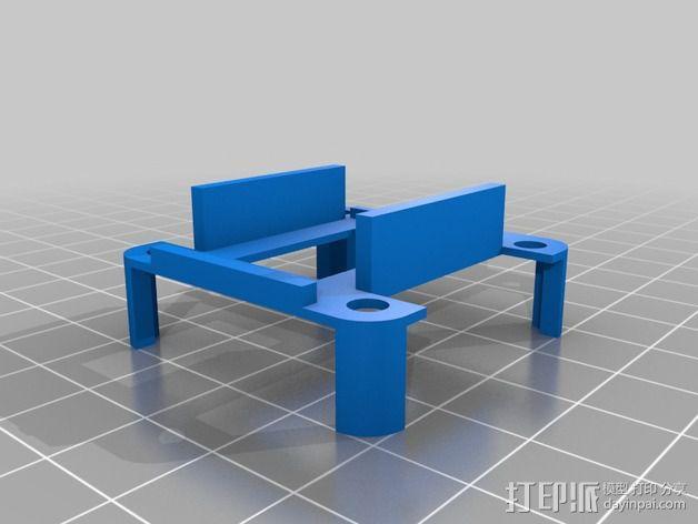 FrSky D4R-II接收器 支架 3D模型  图3