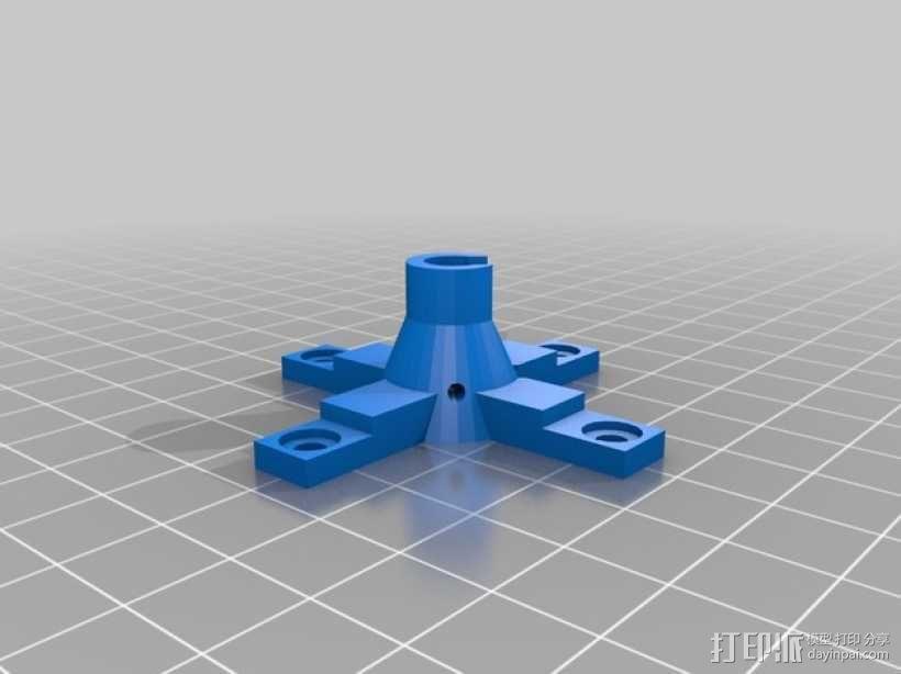 3DR uBlox GPS天线 支架 3D模型  图2
