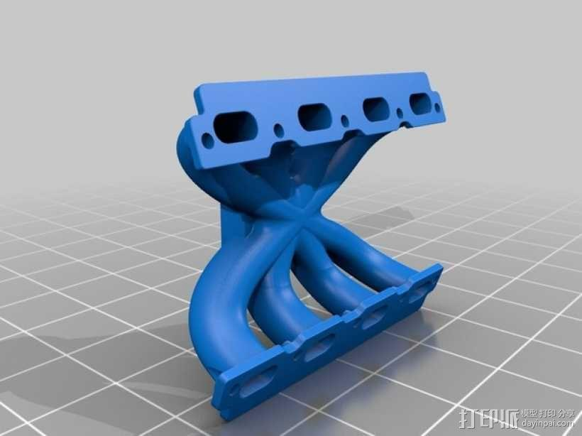 V8 进气歧管 3D模型  图1