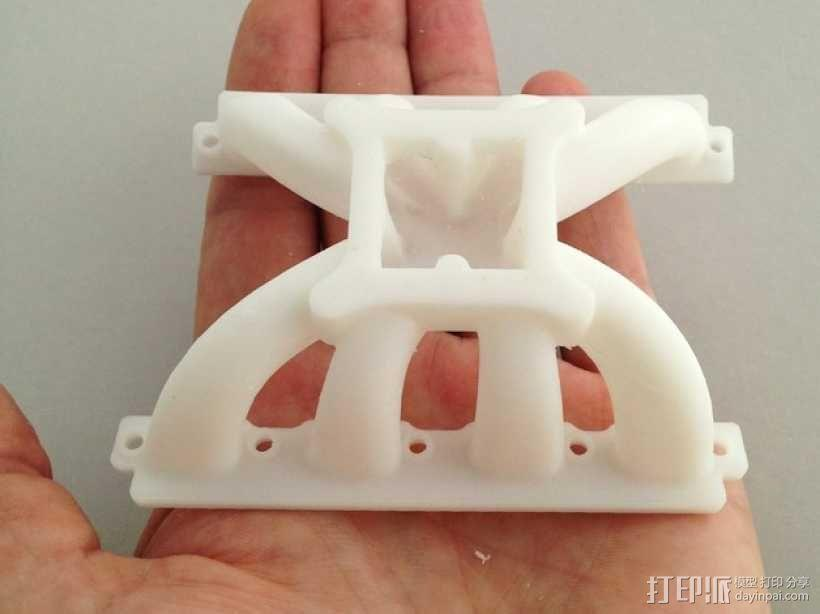 V8 进气歧管 3D模型  图4