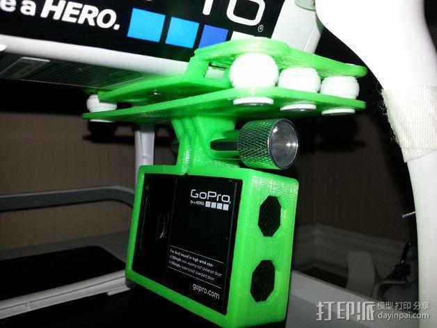 FC40摄像机防振底座 3D模型  图4
