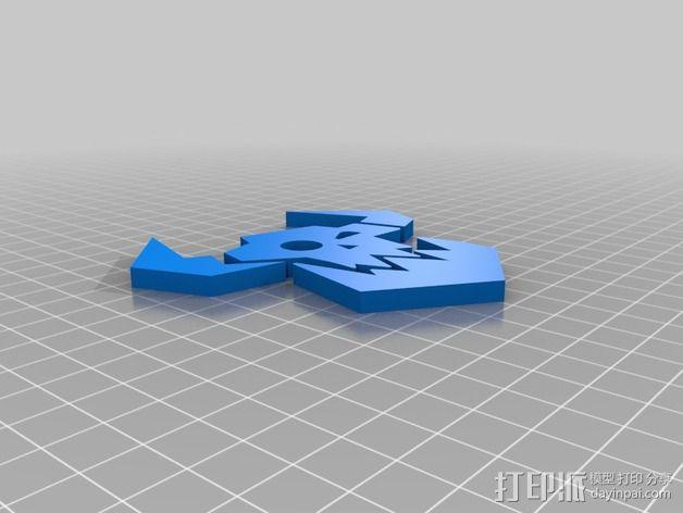 《星际迷航》半兽人图标 3D模型  图2