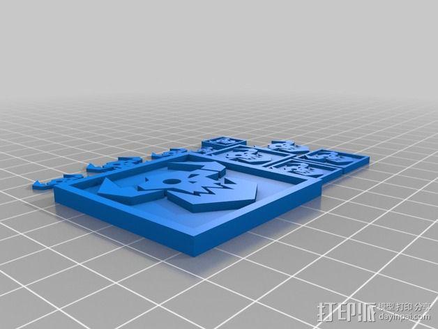 《星际迷航》半兽人图标 3D模型  图4