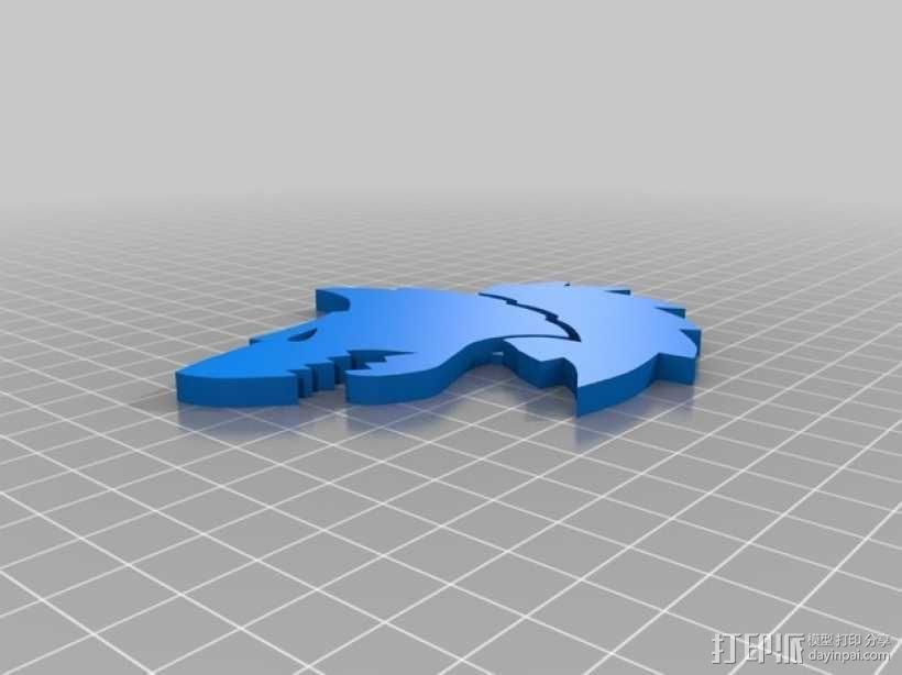 狼头 图标 3D模型  图2