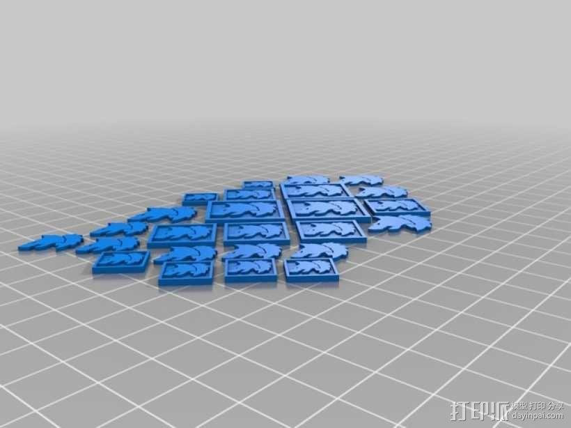 狼头 图标 3D模型  图6