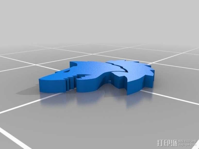 狼头 图标 3D模型  图5